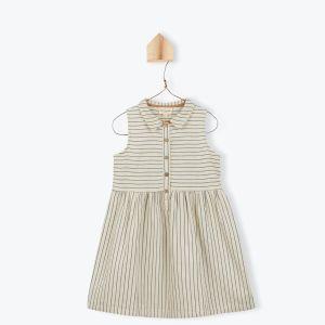 Robe fille coton rayé - A&P